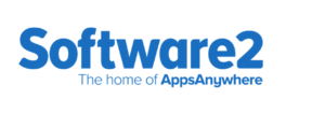 software 2 logo with slogan the home of apps anywhere
