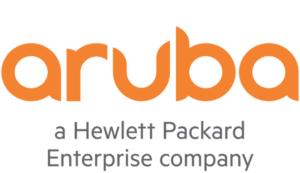 aruba logo with slogan a hewlett packard enterprise company
