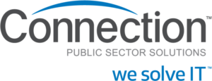connection public sector solutions logo with slogan we solve I-T